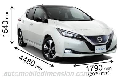 Nissan Leaf 2018 dimensions, boot space and interior