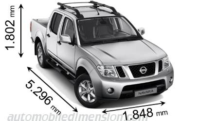 Dimension Nissan Navara 2010