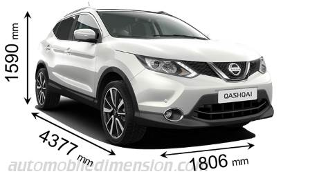 dimensions nissan qashqai 2014 coffre et int rieur. Black Bedroom Furniture Sets. Home Design Ideas