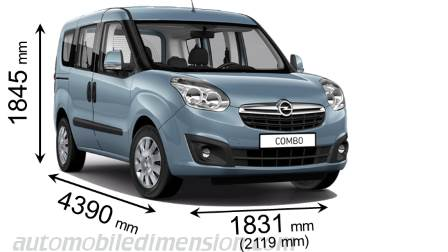 dimensions opel combo tour 2012 coffre et int rieur. Black Bedroom Furniture Sets. Home Design Ideas