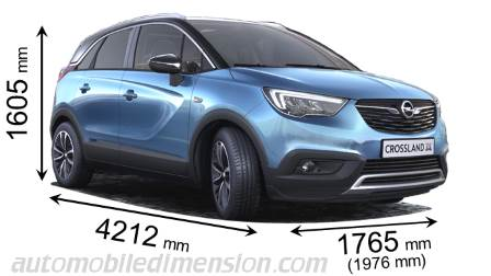 dimensions opel crossland x 2017 coffre et int rieur. Black Bedroom Furniture Sets. Home Design Ideas