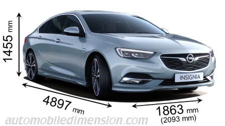 Dimension Opel Insignia Grand Sport 2017