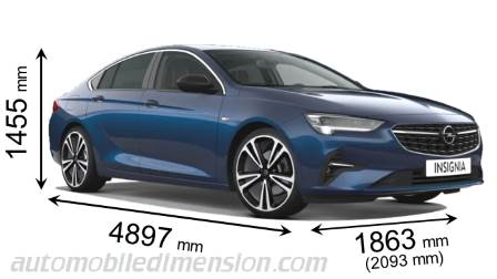 Dimension Opel Insignia Grand Sport 2020