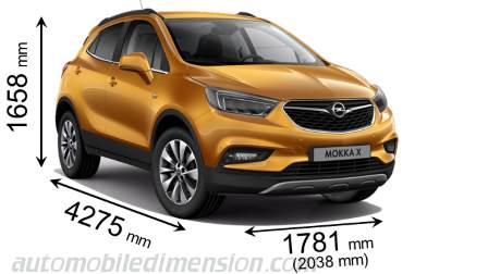 opel mokka x 2016 dimensions boot space and interior. Black Bedroom Furniture Sets. Home Design Ideas