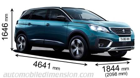 peugeot 5008 2017 dimensions boot space and interior
