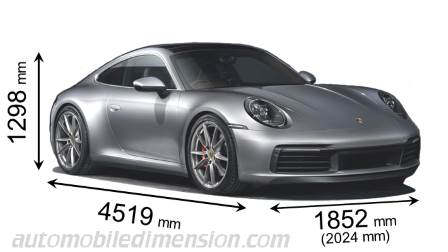 Dimension Porsche 911 Carrera 2019