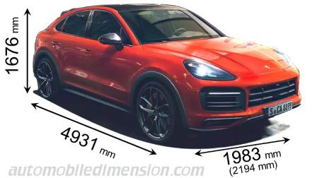 Porsche Cayenne Coupe Dimensions And Boot Space