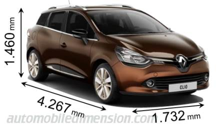 dimensions renault clio sport tourer 2013 coffre et int rieur. Black Bedroom Furniture Sets. Home Design Ideas