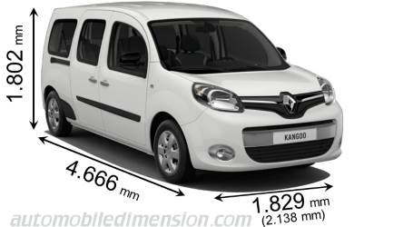 dimensions renault grand kangoo 2013 coffre et int rieur. Black Bedroom Furniture Sets. Home Design Ideas