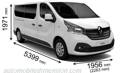 Renault Grand Trafic Combi 2015 dimensions, boot space and interior