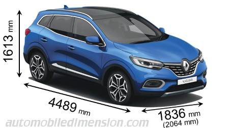 Renault Kadjar 2019 dimensions with length, width and height