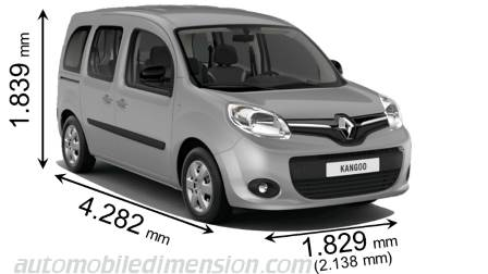 renault kangoo 2013 dimensions boot space and interior. Black Bedroom Furniture Sets. Home Design Ideas