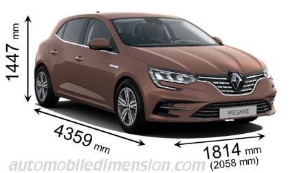 Dimension Renault Megane 2020