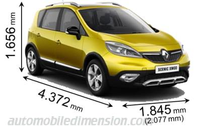 renault scenic xmod dimensions fhoto. Black Bedroom Furniture Sets. Home Design Ideas
