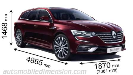 Renault Talisman Sport Tourer 2020 dimensions with length, width and height