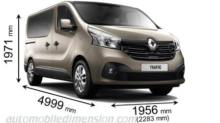 Renault Trafic Combi 2015 dimensions, boot space and interior