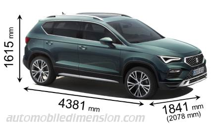 SEAT Ateca measures in mm