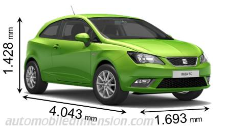 seat ibiza 5p 2015 dimensions boot space and interior. Black Bedroom Furniture Sets. Home Design Ideas