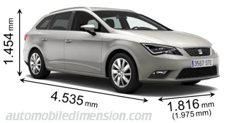 seat leon st 2013 dimensions boot space and interior. Black Bedroom Furniture Sets. Home Design Ideas