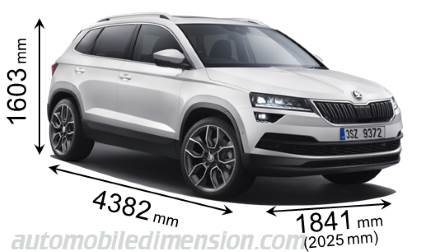 dimensions skoda karoq 2018 coffre et int rieur. Black Bedroom Furniture Sets. Home Design Ideas
