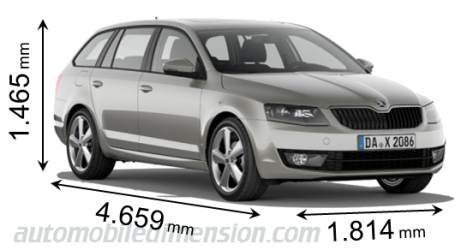 skoda octavia combi 2013 abmessungen kofferraum und innenraum. Black Bedroom Furniture Sets. Home Design Ideas