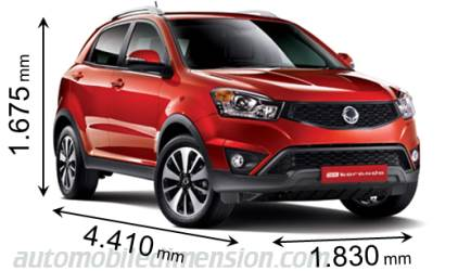 Dimension SsangYong Korando 2014