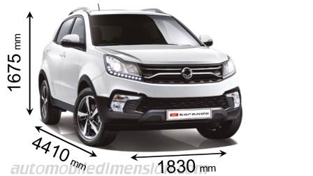 Dimension SsangYong Korando 2017