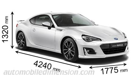 Dimensions Of Subaru Cars Showing Length Width And Height