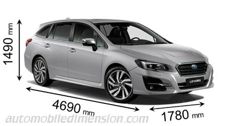 Compare Subaru Models >> Dimensions Of Subaru Cars Showing Length Width And Height