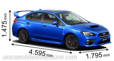 Subaru WRX STI measures in mm