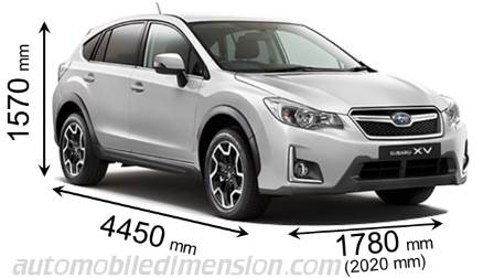 Subaru Xv 2016 Dimensions With Length Width And Height