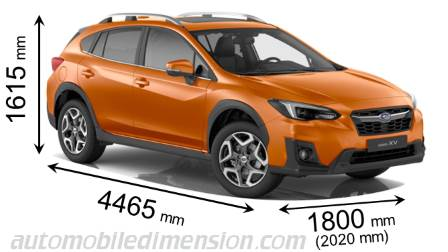 Subaru XV 2018 dimensions, boot space and interior