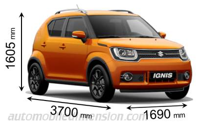 suzuki ignis 2017 dimensions boot space and interior. Black Bedroom Furniture Sets. Home Design Ideas