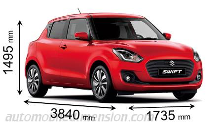 Suzuki Swift Abmessungen