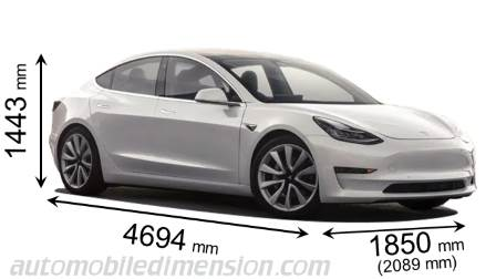 Tesla Model 3 Dimensions >> Tesla Model 3 2018 Dimensions Boot Space And Interior