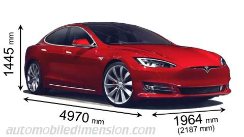 dimensions of tesla cars showing length width and height. Black Bedroom Furniture Sets. Home Design Ideas
