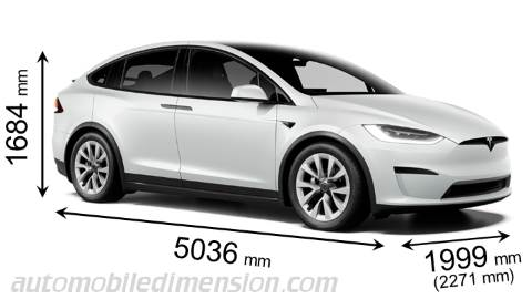 Dimension Tesla Model X 2021