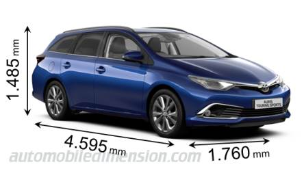 Toyota Auris Touring Sports length x width x height