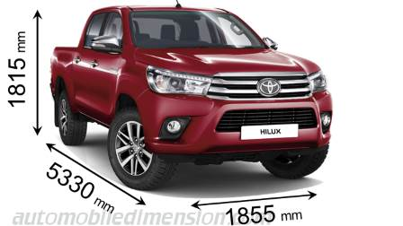 Toyota Hilux 2Cab size
