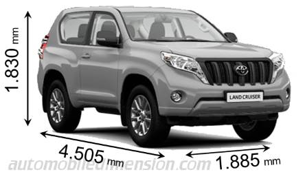 Dimensioni Toyota Land Cruiser 3p 2013