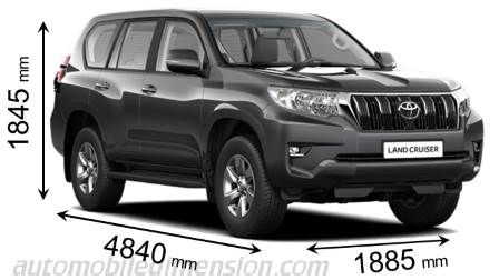 Toyota Land Cruiser 5p 2018 Dimensions Boot Space And