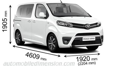 Toyota Proace Verso Compact length x width x height