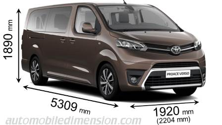 dimensions toyota proace verso long 2016 coffre et int rieur. Black Bedroom Furniture Sets. Home Design Ideas