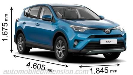 toyota rav4 2016 dimensions boot space and interior. Black Bedroom Furniture Sets. Home Design Ideas