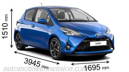 Dimension Toyota Yaris 2017