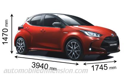 Dimension Toyota Yaris 2020
