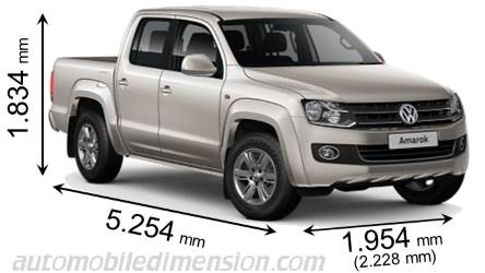 Dimension Volkswagen Amarok 2011
