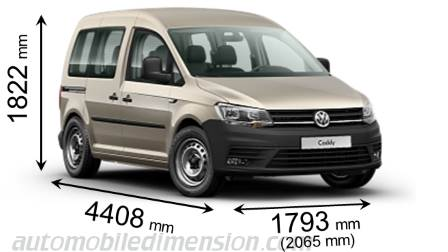 Volkswagen Caddy dimensions