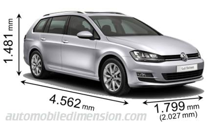 volkswagen golf variant 2013 abmessungen kofferraum und. Black Bedroom Furniture Sets. Home Design Ideas