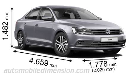 2016 vw jetta dimensions